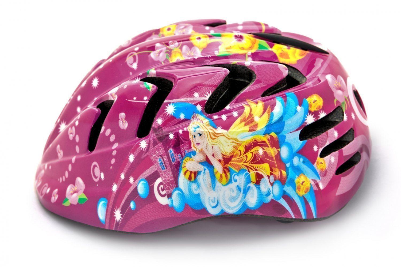 """Шлем детский с регулировкой,  размер S(48-52см), цвет розовый, рисунок - """"принцесса"""""""