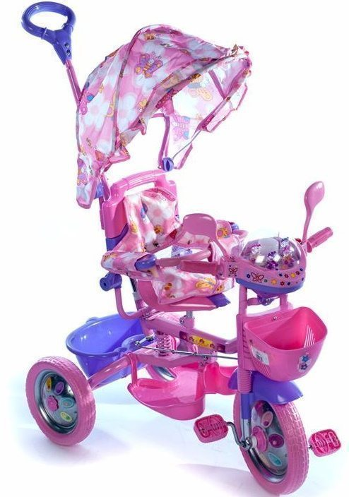Детский трехколесный велосипед с ручкой 209 C2