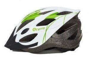 Шлем взрослый, 19 вент. отверстий, размер M(56-59), цвет белый с зеленым