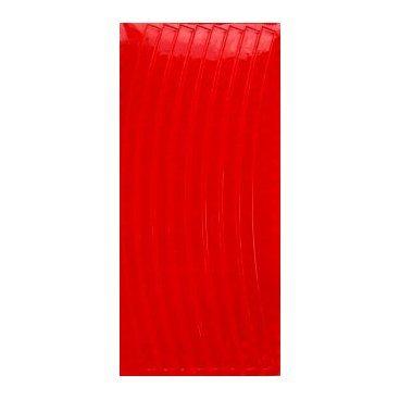 Набор светоотражающих накладок на спицы велосипеда, цвет красный, 12 шт.
