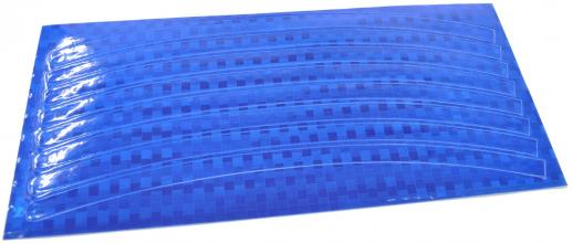 Набор светоотражающих накладок на обод велосипеда, цвет синий, 8 шт.