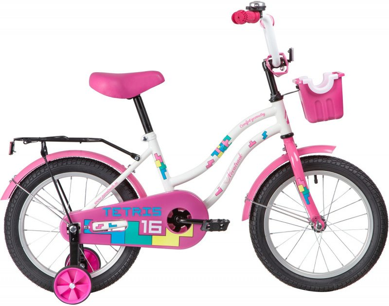 """Детский велосипед NOVATRACK TETRIS 16"""" (2020)"""