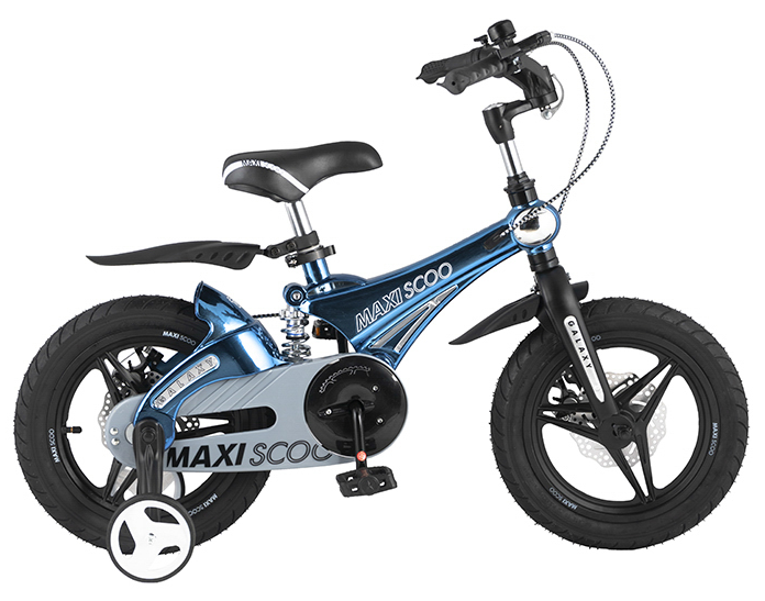 """Детский 2- колесный велосипед Maxiscoo Galaxy Делюкс плюс, 14"""" (2021)"""