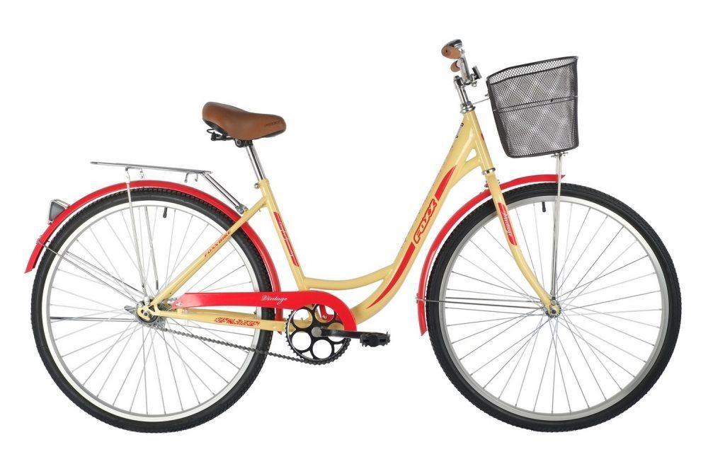 "Велосипед FOXX 28"" VINTAGE, сталь, передняя корзина"