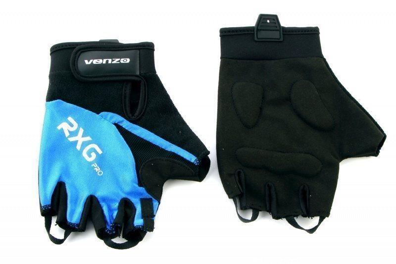 Перчатки VENZO VZ-F29-003 короткие, лайкра, синий, XL (пара)